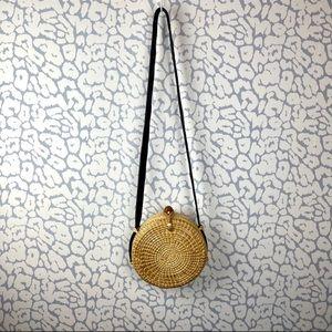 Bohemian Round Basket Shoulder or  Cross Body Bag